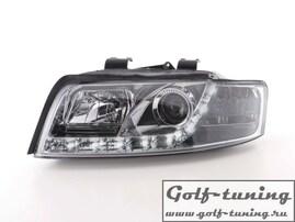 Audi A4 8E 00-04 Фары Devil eyes, Dayline хром