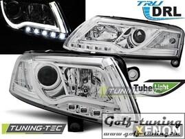 Audi A6 4F 04-08 Фары Tube Lights под ксенон хром