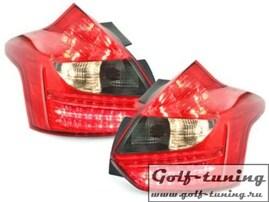 Ford Focus 3 11-14 Фонари светодиодные, красно-тонированные RF15DLRS