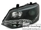 VW Polo 6R 09-14 Фары Devil eyes, Dayline черные