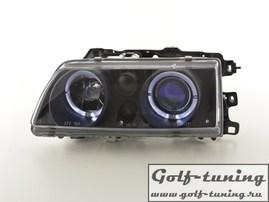Honda CRX / Civic 88-89 Фары с ангельскими глазками и линзами черные