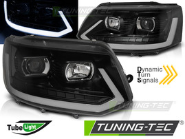 VW T5 GP 09-15 Фары led tube light в стиле T6 черные