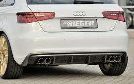 Audi A3 8V 12-16 3/5Дв Диффузор для заднего бампера carbon look