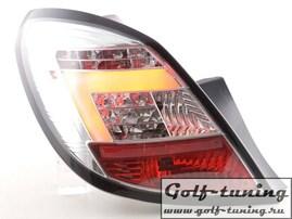 Opel Corsa D 5Дв 06-14 Фонари светодиодные, хром