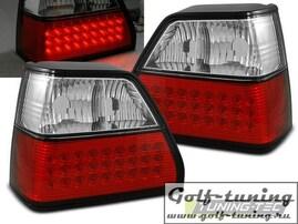 VW Golf 2 Фонари светодиодные, красно-белые