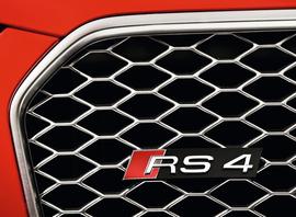 Audi RS4 11-16 Значок RS4 для решетки радиатора