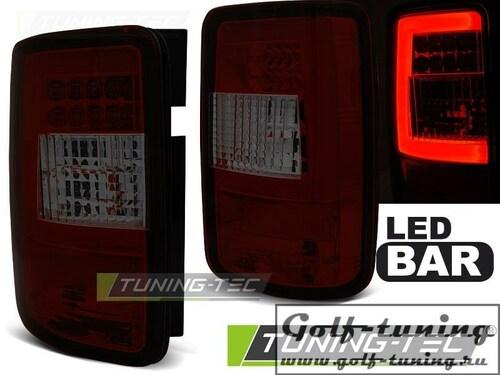 VW Caddy 03-15 Фонари светодиодные, Led Light bar красно-тонированные