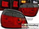 BMW E60 03-07 Фонари светодиодные, красно-тонированные с светодиодным поворотником