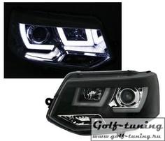 VW T5 09-15 Фары 3D Light bar черные