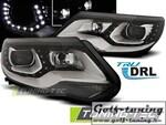 VW Tiguan 11-16 Фары Devil eyes, Dayline черные