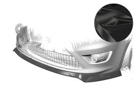 Ford Focus MK2 ST 07-10 Накладка на передний бампер глянцевая