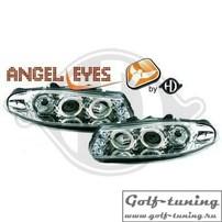 Rover 200 95-00 Фары с линзами и ангельскими глазками хром