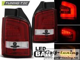VW T5 03-09 Фонари светодиодные, красно-белые Lighbar