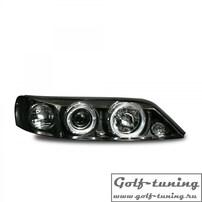 Opel Vectra B 96-99 Фары с ангельскими глазками и линзами черные