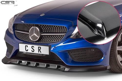 Mercedes Benz C-Klasse C205/A205 14-18 Накладка на передний бампер Carbon look
