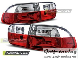 Honda Civic 91-95 2D/4D Фонари красно-белые