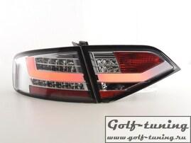 Audi A4 B8 07-11 Седан Фонари светодиодные, хром Lightbar design