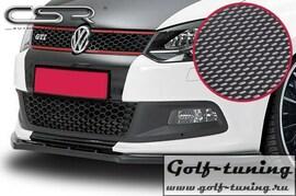 VW Polo 6R GTI 09-14 Накладка на передний бампер Carbon Look