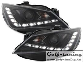"Seat Ibiza 6J Facelift 12- Фары Devil eyes, Dayline черные ""FR Design"""