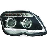 Mercedes GLK X204 08-12 Фары tube light design черные