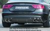 Audi S5 11-16 Sportback Накладка на задний бампер/диффузор carbon look