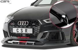 Audi RS3 8V 2015- Спойлер переднего бампера глянцевый