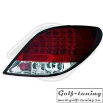 Peugeot 207 06-12 Фонари светодиодные, красно-белые