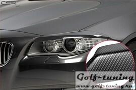 BMW F10 10-13 Реснички на фары carbon look