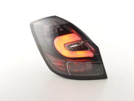 Skoda Fabia 5-дв. 07- Фонари светодиодные тонированные