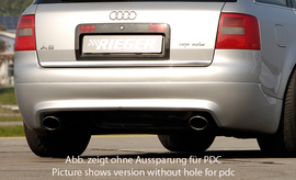 Audi A6 4B 01-04 Универсал Накладка на задний бампер S6-Look