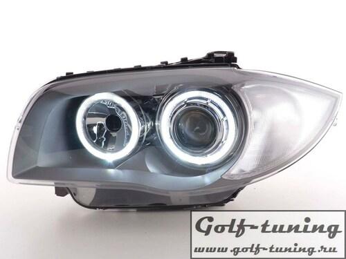 BMW E87 04- Фары с линзами и ангельскими глазками хром
