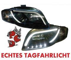 Audi A4 B7 04-08 Фары Devil eyes, Dayline черные D-LITE EVO