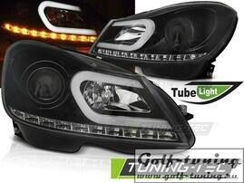 Mercedes W204 11-14 Фары Tube light черные