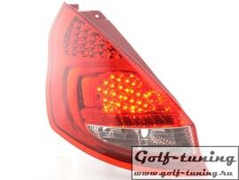 Ford Fiesta 5D 08- Фонари светодиодные, красно-белые