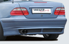 Mercedes W208 Купе/кабрио Накладка на задний бампер