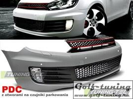 VW Golf 6 Бампер передний GTI Style +PDC