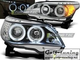 BMW E60/61 03-07 Фары Angel Eyes хром