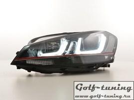 VW Golf 7 12-17 Фары R-Look с красной полосой