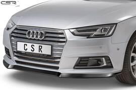 Audi A4 B9 (Typ 8W) 2015-04/2019 Накладка на передний бампер глянцевая