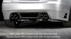 BMW E90/E91 05-11 335I Накладка на задний бампер Carbon Look