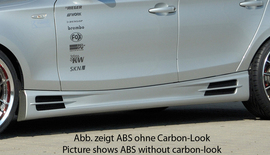 BMW E87 04-11 Накладки на пороги Carbon Look
