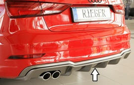 Audi A3 8V Седан/Кабрио 16- Накладка на задний бампер/диффузор carbon look