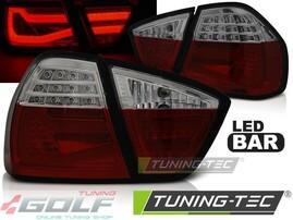 BMW E90 05-08 Фонари светодиодные, lightbar design, красно-тонированные