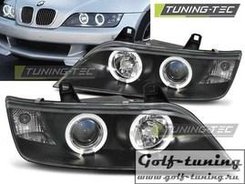 BMW Z3 96-02 Фары Angel Eyes черные