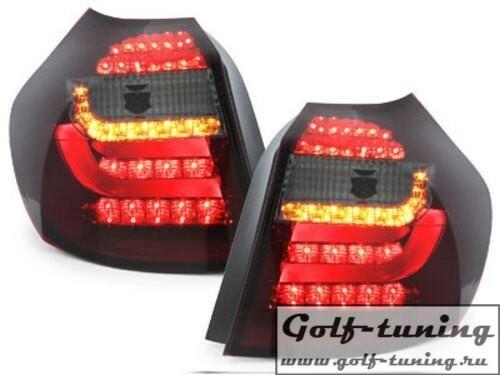 BMW E87 07-11 Фонари светодиодные, красно-тонированные lightbar
