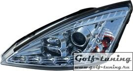 Ford Focus 98-01 Фары Devil eyes, Dayline хром