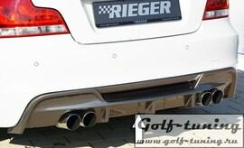 BMW E82/E88 07- Накладка на задний бампер/диффузор Carbon Look