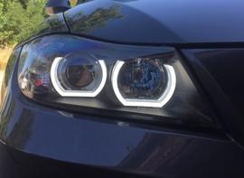 BMW E90/E91 05-08 Фары с  Led ангельскими глазками под ксенон