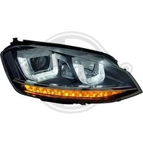 VW Golf 7 12-17 Фары R-Look черные с светодиодным поворотником