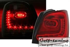 VW Polo 6R Фонари светодиодные, красно-белые R-Look